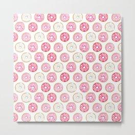 Pink Donuts Metal Print