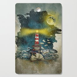 the sea is poetry Cutting Board