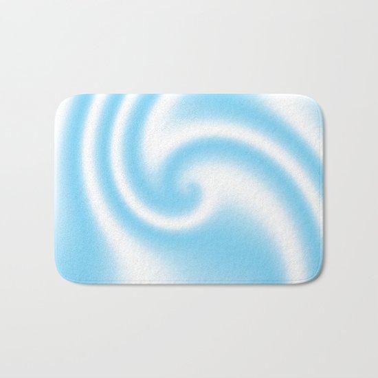 Blue Raspberry Ribbon Candy Fractal Bath Mat