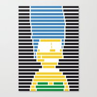 simpson Canvas Prints featuring Marge Simpson by Rolland Benjamin