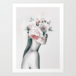 WOMAN WITH FLOWERS 11 Art Print