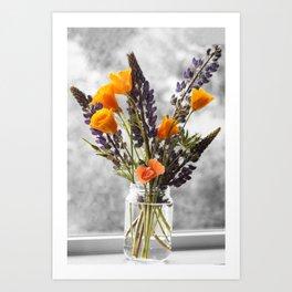 Wildflower Bouquet Photography Print Art Print