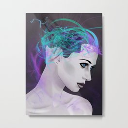 Assimilate the Body, Free the Mind Metal Print