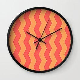 Orange Creamcicle Wall Clock