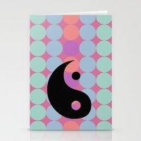 ying yang Stationery Cards featuring Ying-Yang by Barbara Baron