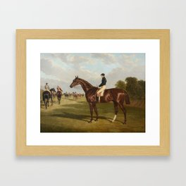 John Frederick Herring the Elder (1795-1865) Mr John Bowes' Mundig, Winner of the Derby Stakes at Ep Framed Art Print
