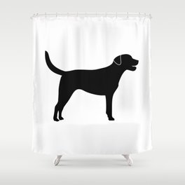Black Labrador Retriever Silhouette #society6 #decor #buyart #artprint Shower Curtain