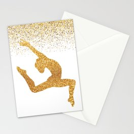 Gold Gymnast Stationery Cards
