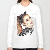 ariana grande Long Sleeve T-shirts featuring ARIANA G. by CARLOS CASANOVA