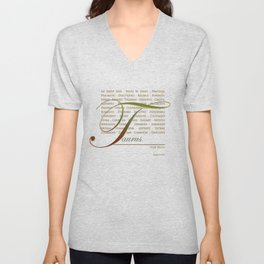 Sign Language for Taurus Unisex V-Neck