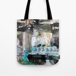 Falling from balconies Tote Bag