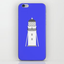 Lighthouse in gray an white iPhone Skin