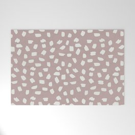 Simply Ink Splotch Lunar Gray on Clay Pink Welcome Mat