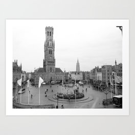 Brugge, Belgium City Center Art Print