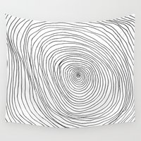 tree rings Wall Tapestries featuring Spiral Rings by LacyDermy