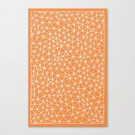 Connectivity - White on Orange Canvas Print