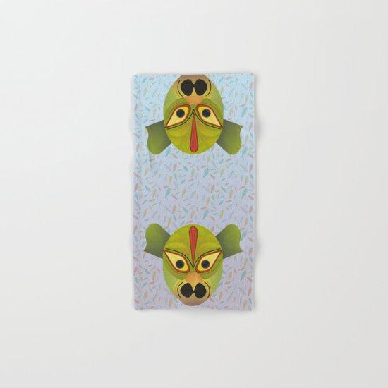 Devil amphibian bird mask Hand & Bath Towel