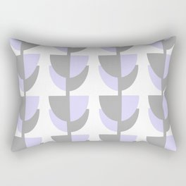 Tulips In Spring Time - Lavender and Grey on White - Tulips in Springtime series Rectangular Pillow