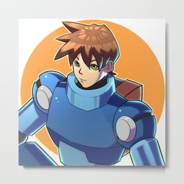 Blue Armor Boy Metal Print
