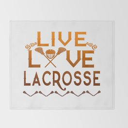 LIVE - LOVE - LACROSSE Throw Blanket