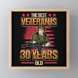 30th Birthday Soldier Military Military Service Framed Mini Art Print
