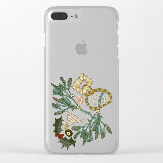 festive berries Clear iPhone Case