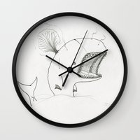 moby dick Wall Clocks featuring Moby dick  by JackOfAll