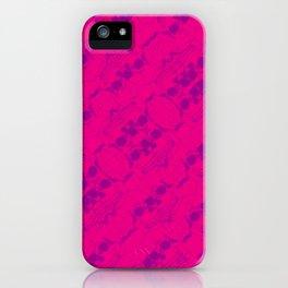 Hipster Purple Skulls Pattern Vector Neon Pink iPhone Case