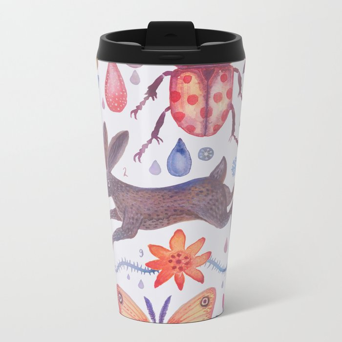 Et coloris natura V Metal Travel Mug