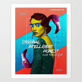 Independent Girl - Print Art Print