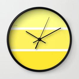 Canary Yellow Wall Clock