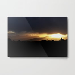 Sunbeams Streaking Across The Valley Metal Print