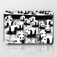 animal crew iPad Cases featuring Crew by Panda Cool