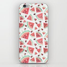 Watermelon popsicles, strawberries and chocolate iPhone Skin