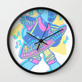 Keytar Jammin Wall Clock