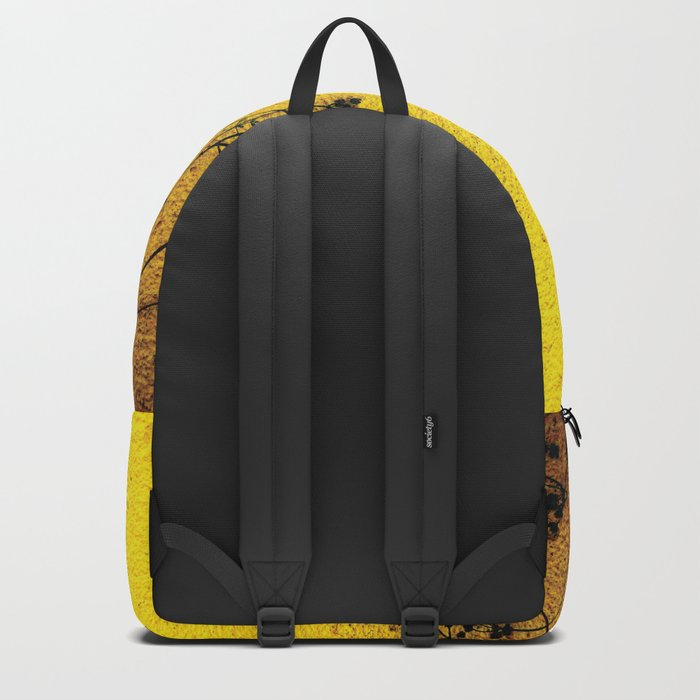 Minimal flora - Yellow wall and flowers Backpack
