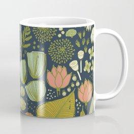 Botanical Sketchbook M+M Navy by Friztin Coffee Mug