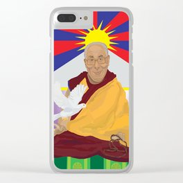 His Holiness Clear iPhone Case