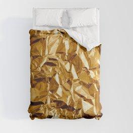 Crumpled Golden Foil Comforters