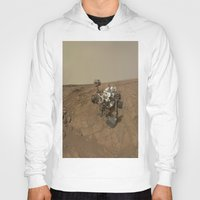 nasa Hoodies featuring NASA Curiosity Rover's Self Portrait at 'John Klein' Drilling Site in HD by Planet Prints