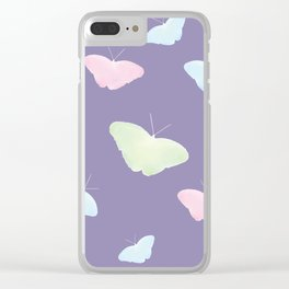 UltraViolet Butterflies Clear iPhone Case