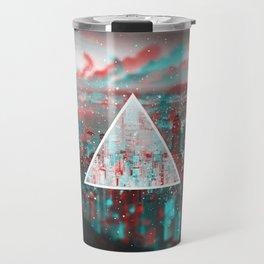 Red & Blue Illuminati City Travel Mug