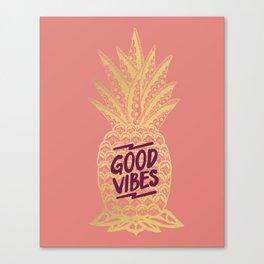 Good Vibes - Pink Canvas Print