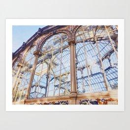 Palacio de Cristal Madrid Art Print