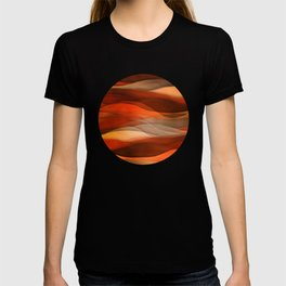 """Sea of sand and caramel waves"" T-shirt"