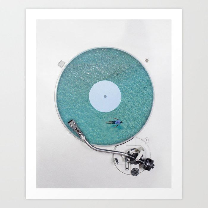 More weird vinyl experiences. Art Print