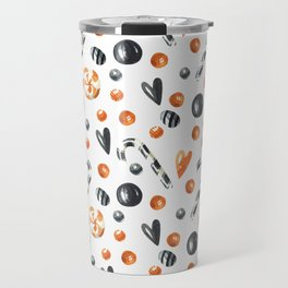 Happy halloween pattern with candies and lollipops Travel Mug