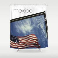 mexico Shower Curtains featuring Mexico by Mike Lopez