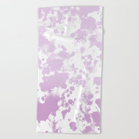 Painted abstract minimal ombre painting charlotte winter canvas art Beach Towel