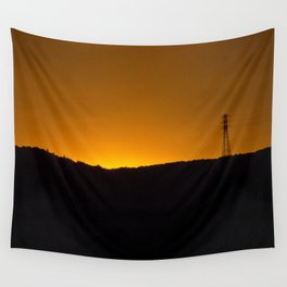 Sunset over the hills Wall Tapestry
